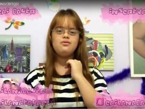Garota com Síndrome de Down youtuber tem mais de 10 mil segudores