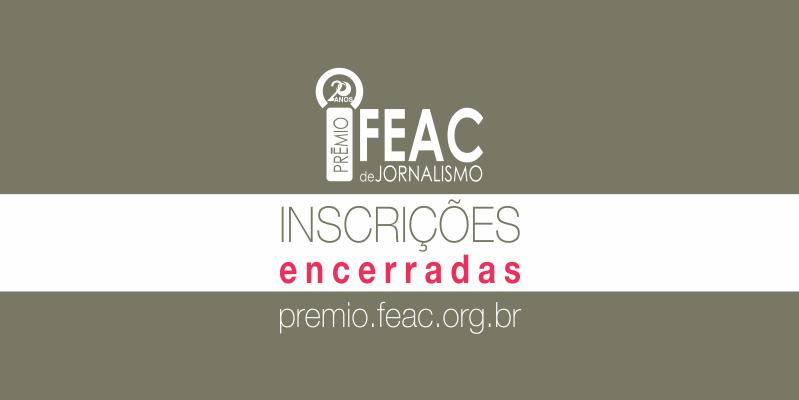 20º Prêmio Fundação FEAC de Jornalismo recebe mais de 400 inscrições