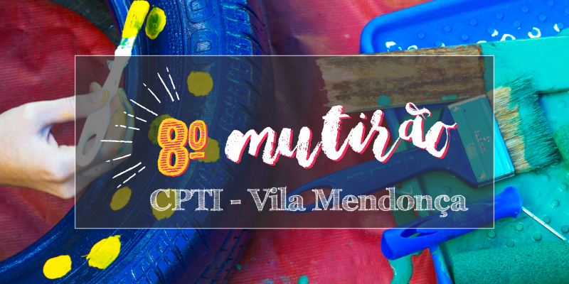 Mutirão de pintura da quadra do CPTI acontece no sábado, dia 11 de novembro