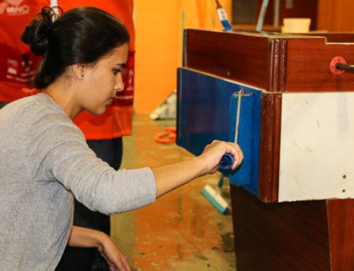 Voluntários transformam espaço de vivência na Pró-Menor