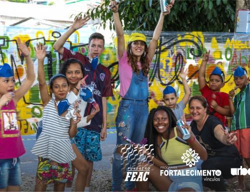 UrbaniZarte: trabalho em rede leva arte, esporte e brincadeiras  para comunidade