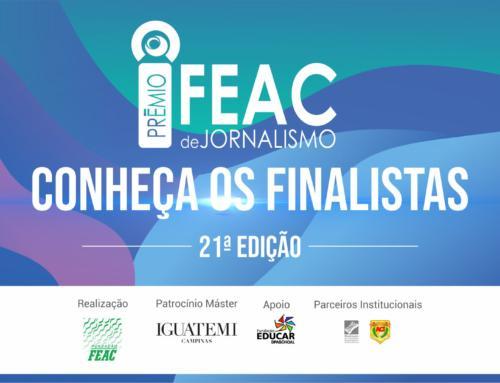 Fundação FEAC divulga finalistas da 21ª edição do Prêmio de Jornalismo