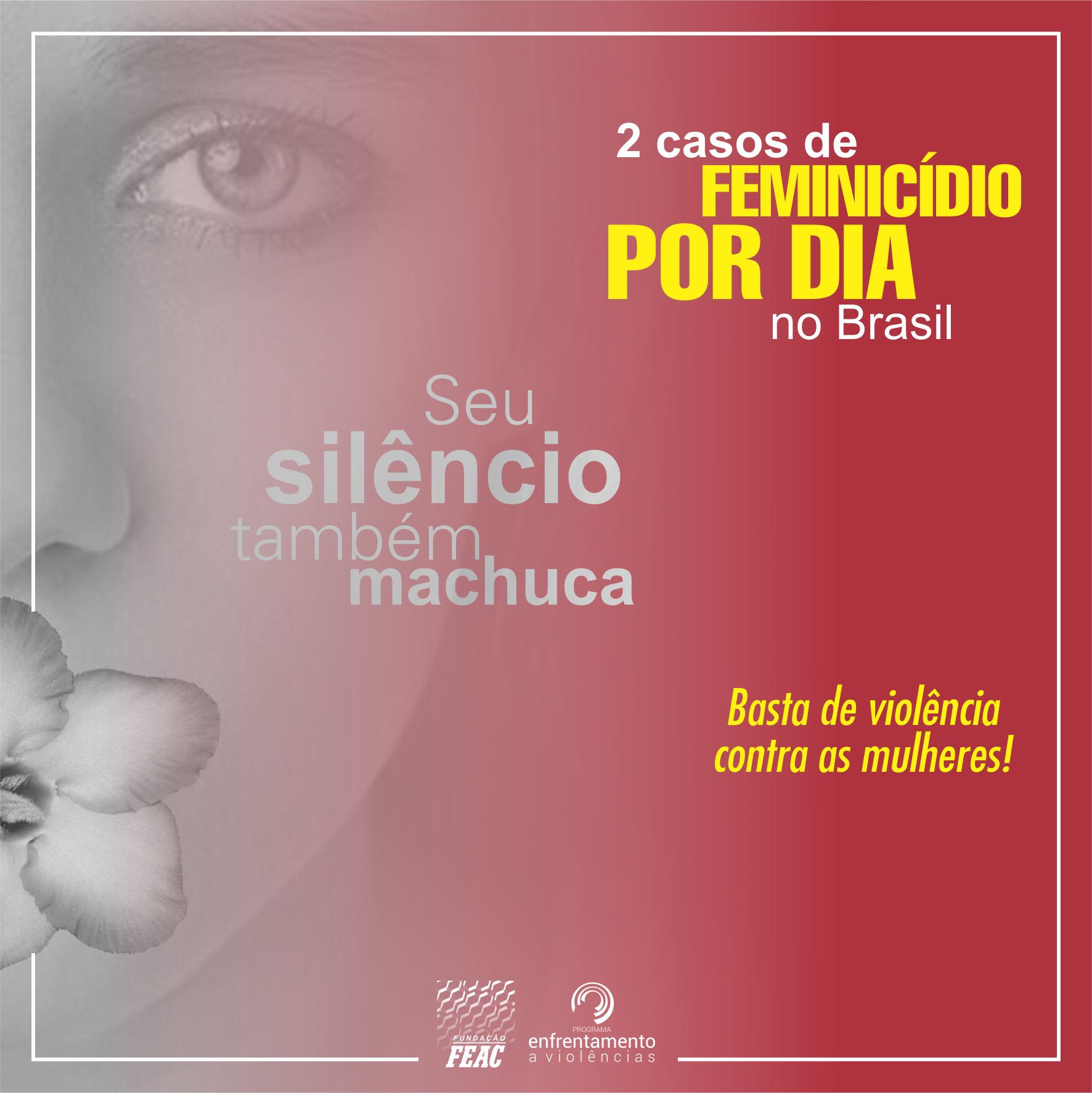 2 casos de feminicídio por dia no Brasil
